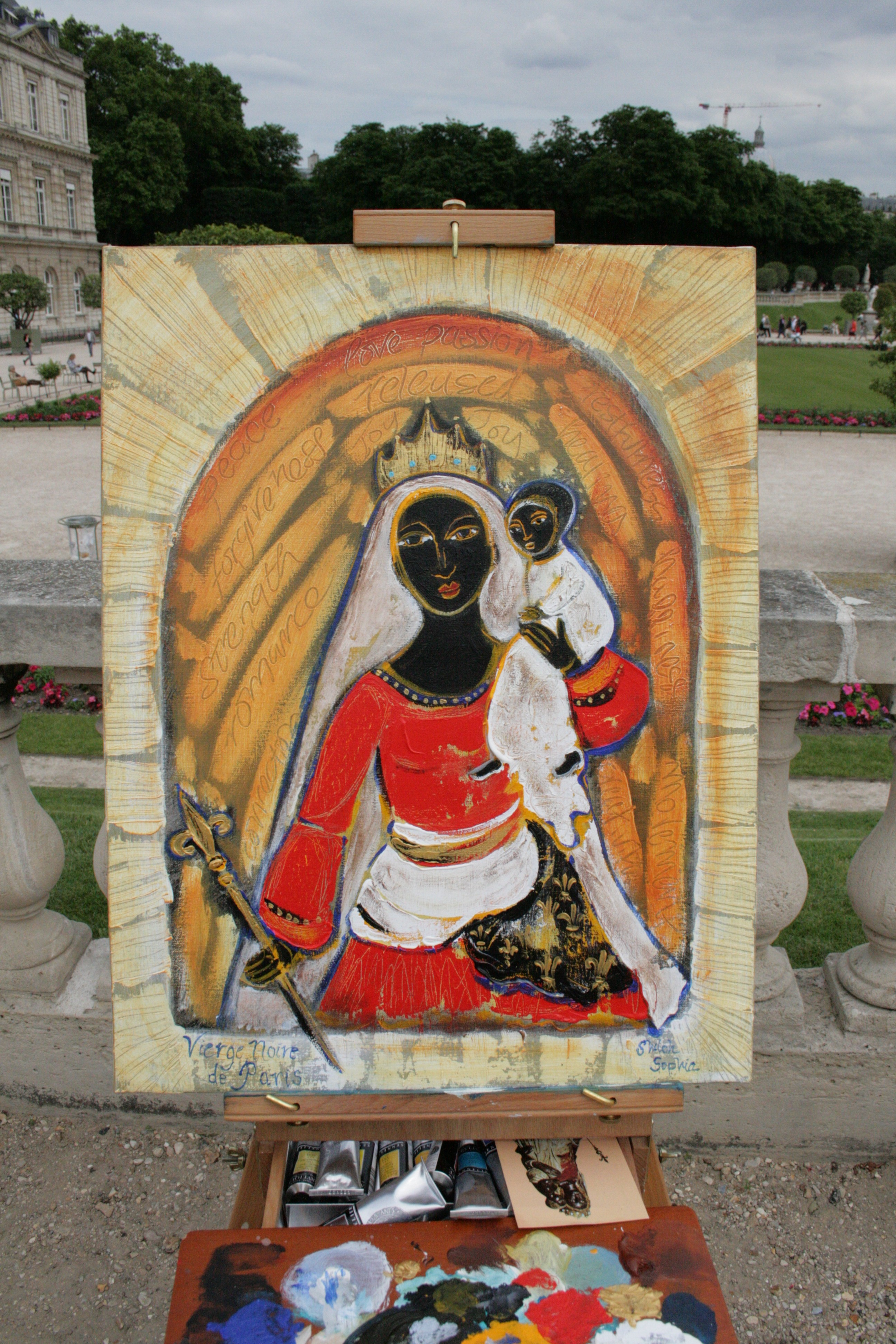 Painting the Black Madonna in Paris