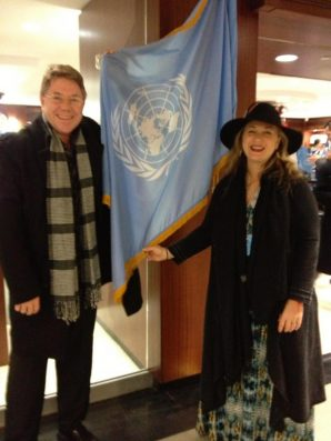 Shiloh Sophia at the United Nations with Jonathan McCloud, 2013