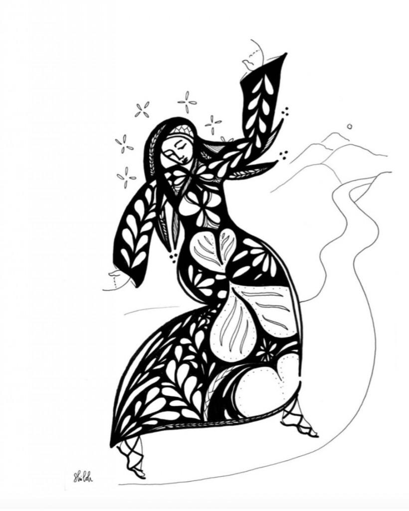 dancing woman by Shiloh Sophia