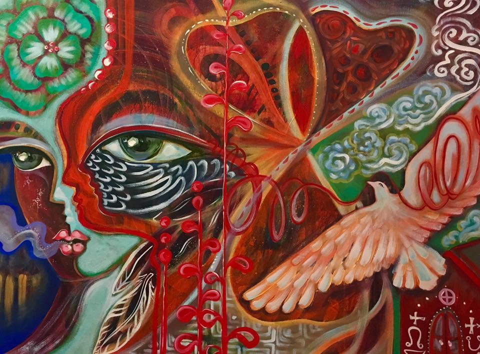 Kiss of Wisdom painting
