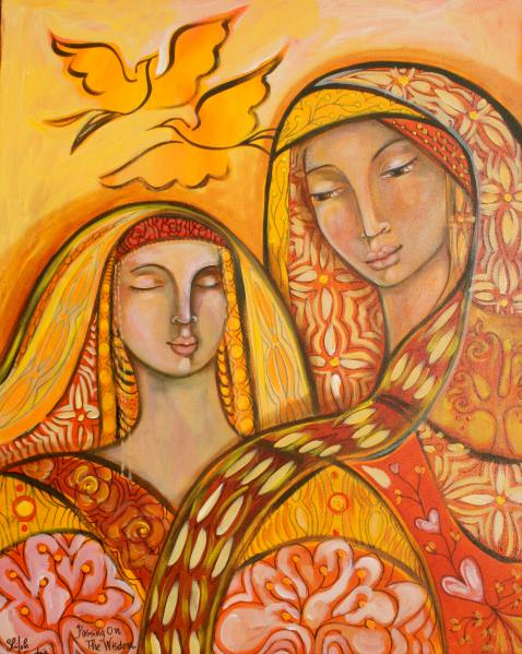 Passing on the Wisdom. Painting by Shiloh Sophia 2009