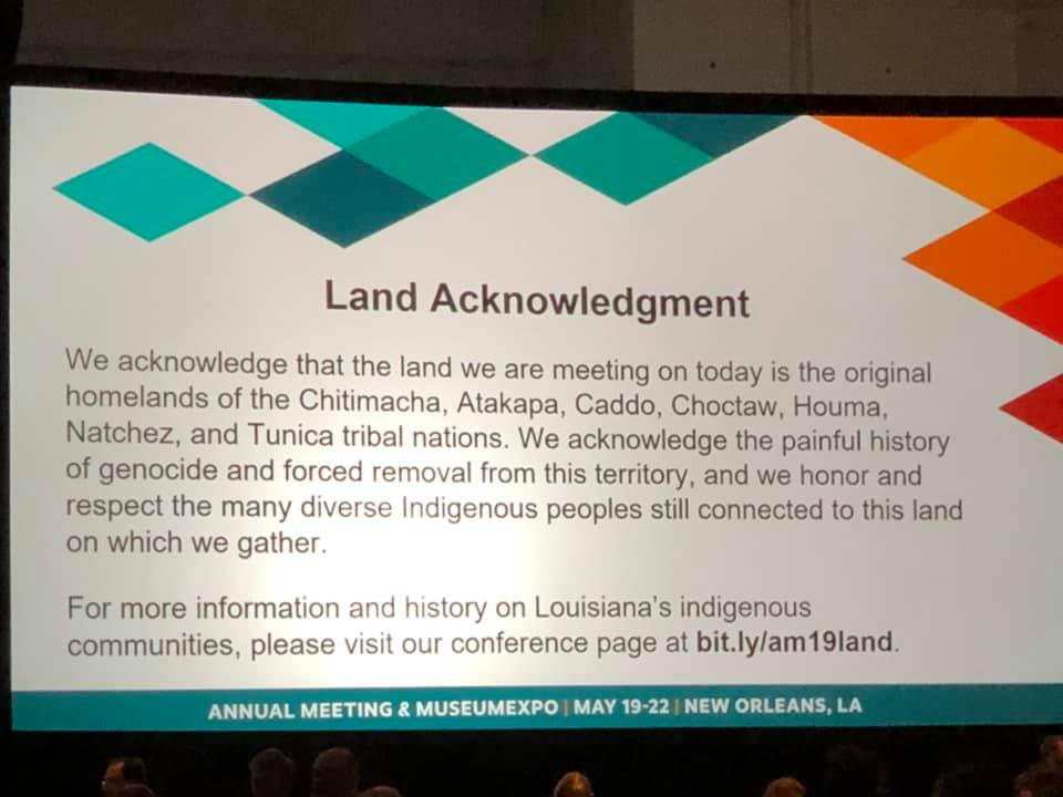 American Alliance of Museums Land Acknowledgment