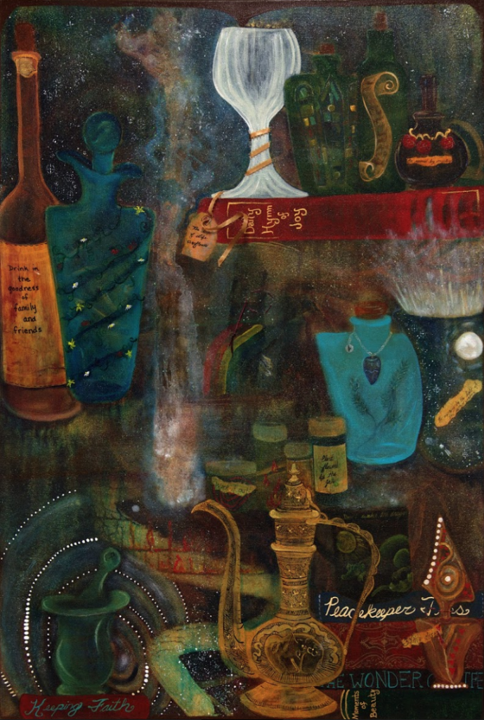 Good Medicine Apothecary painting by 2018 student Kara Young