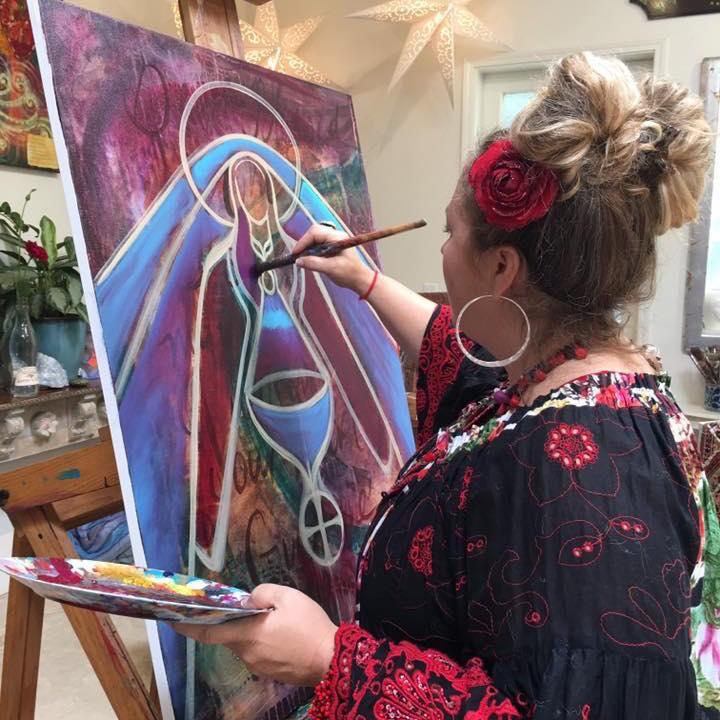 Shiloh painting black madonna 2017