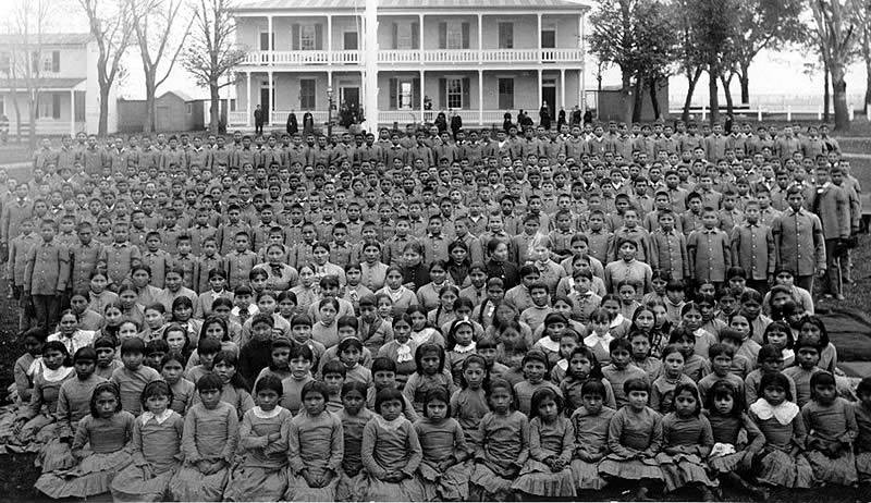 Native American Children Forcibly removed from families